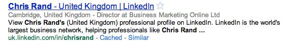 Chris Rand on LinkedIN