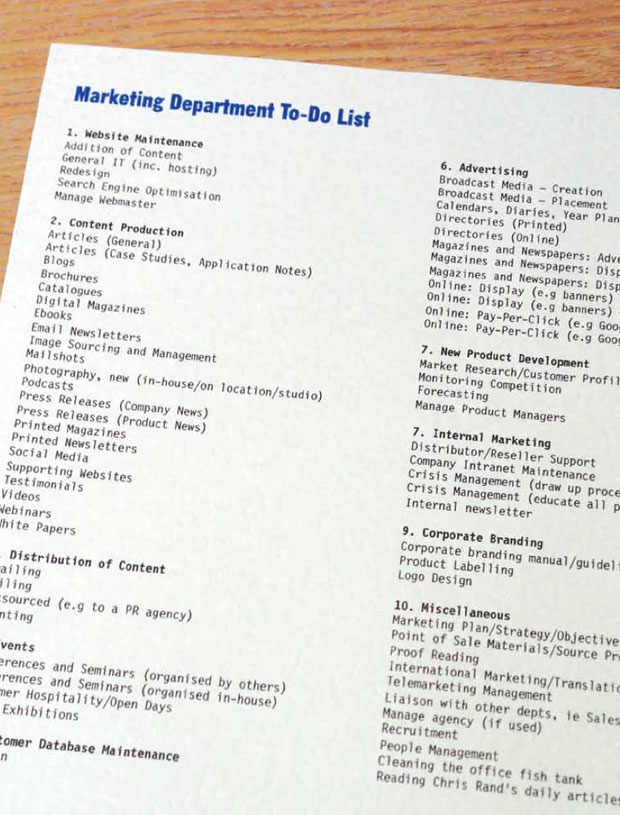 Marketing-Department-To-Do-List