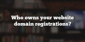 Who owns your website domain registrations?