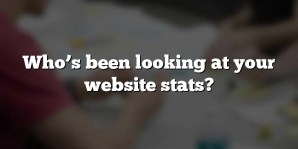Who's been looking at your website stats?
