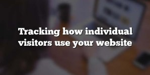 Tracking how individual visitors use your website