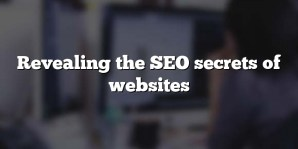 Revealing the SEO secrets of websites