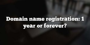 Domain name registration: 1 year or forever?