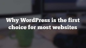 Why WordPress is the first choice for most websites