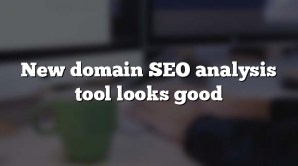 New domain SEO analysis tool looks good