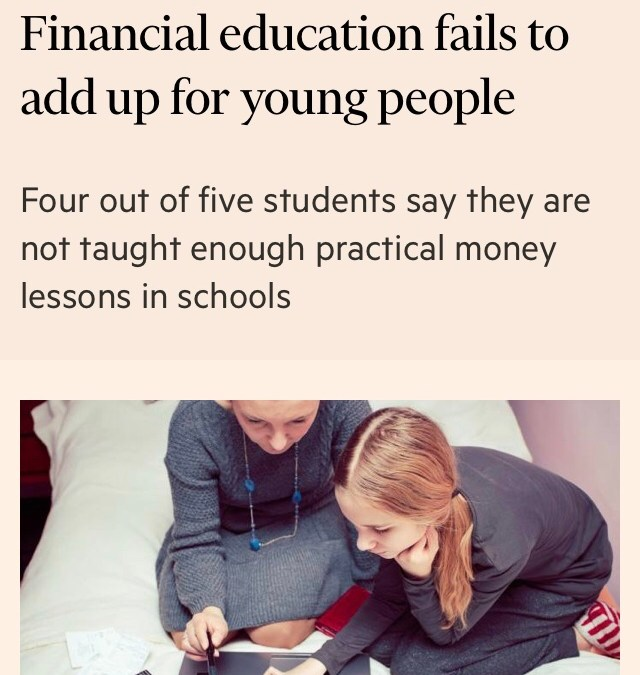 The need for Financial education for young people