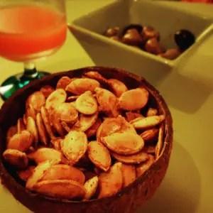 Graines de potiron toastées aux épices Paléo 1