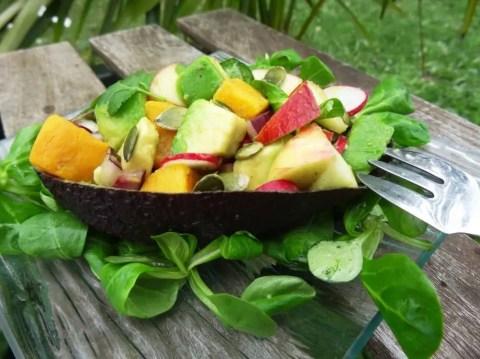Salade avocat / patate douce Paléo 1