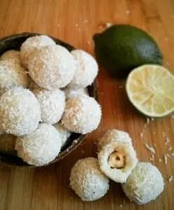 Truffes exotiques coco-citron vert 1