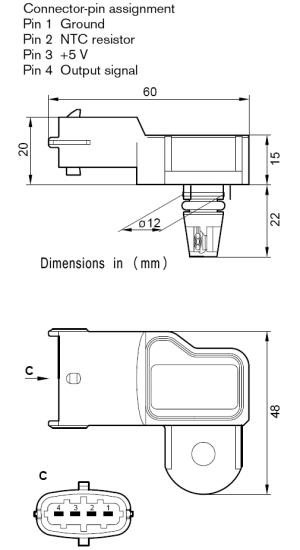 Home » Shop » Sensors » Pressure Sensors » Bosch 1 Bar TMap Map Sensor with IAT