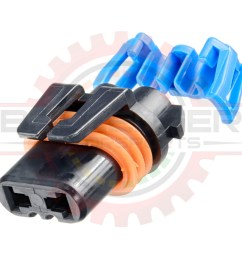 gm delphi packard 2 way metripack 280 connector plug assembly for hb3 9005 [ 1024 x 1024 Pixel ]