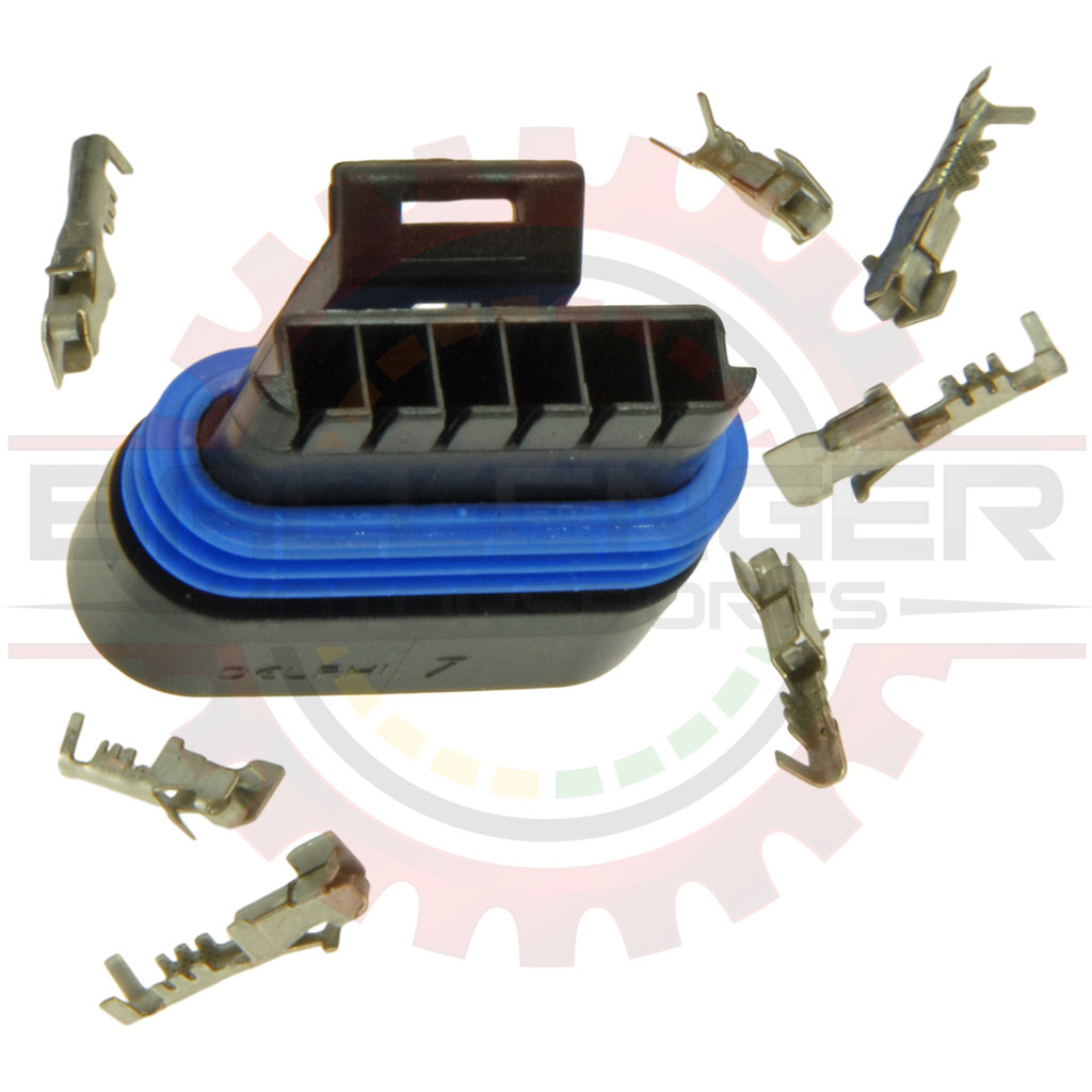 hight resolution of description associated mating parts applications specifications gm delphi packard 6 way metripack 150 2 connector plug kit