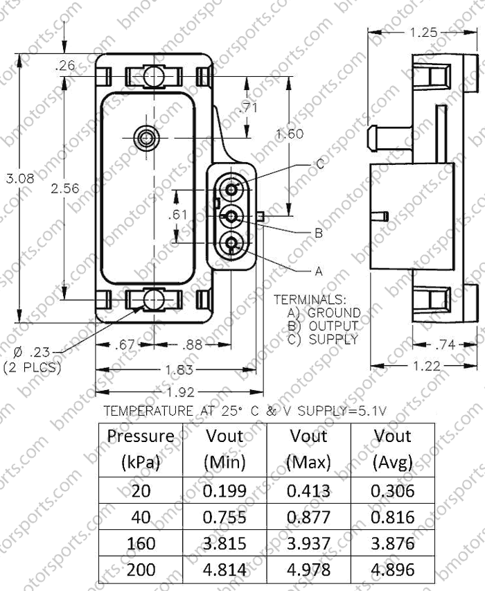 e46 wiring diagram harbor breeze ceiling fan 3 speed switch home » shop sensors pressure delphi / gm 2 bar map sensor - 12247571 16040609 ...