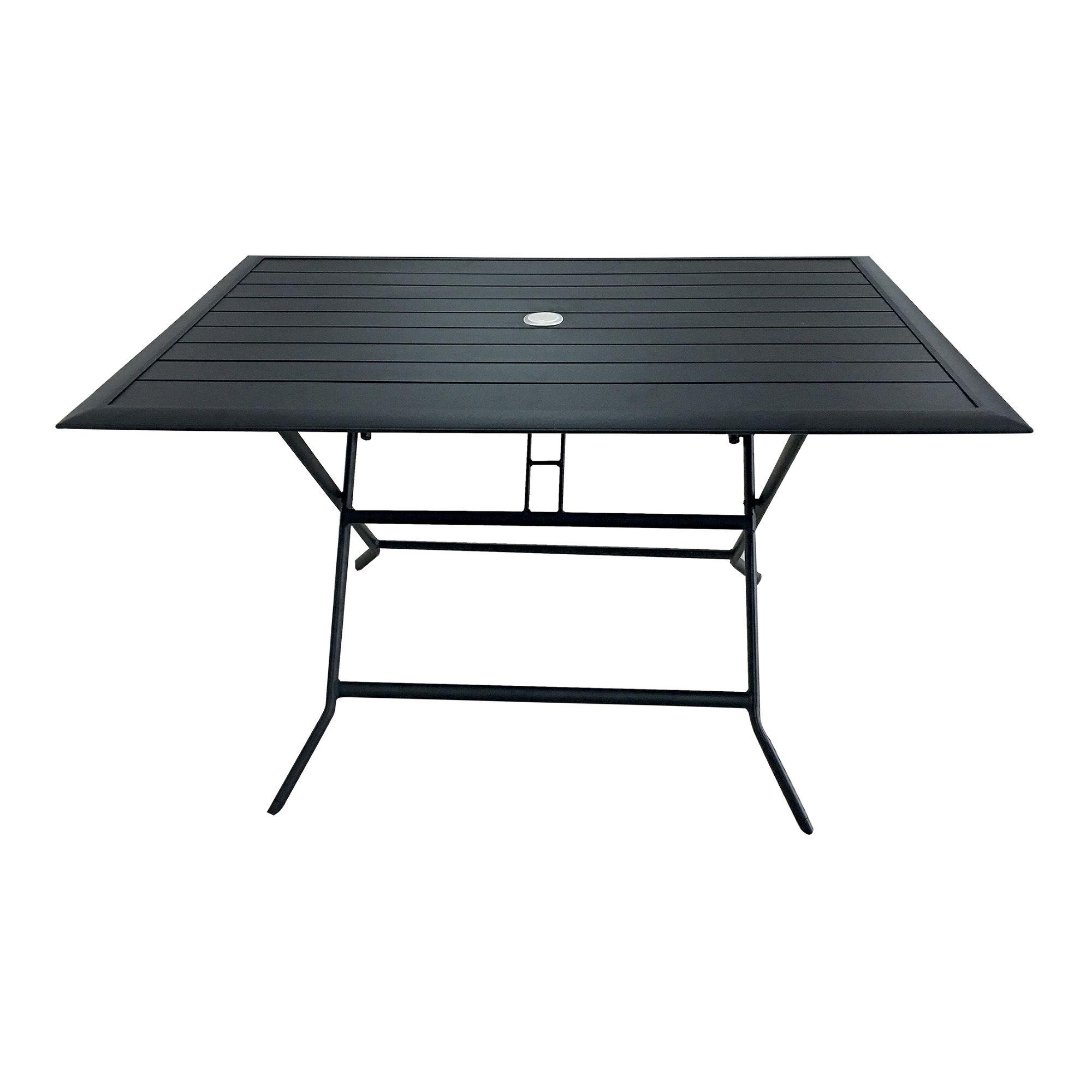 table pliante avec trou pour parasol berlin