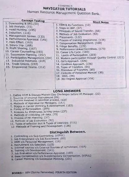 human resource management tutorials pdf