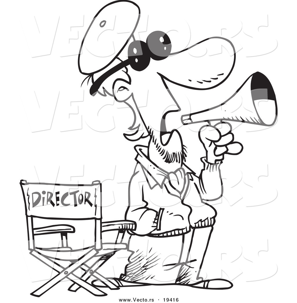 movie director coloring pages - photo#7