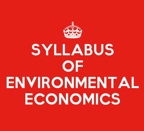 Environmental And Natural Resource Economics Syllabus