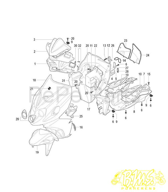 Onderdelen tekeningen » malaguti F12 R » F12 R LCÂ