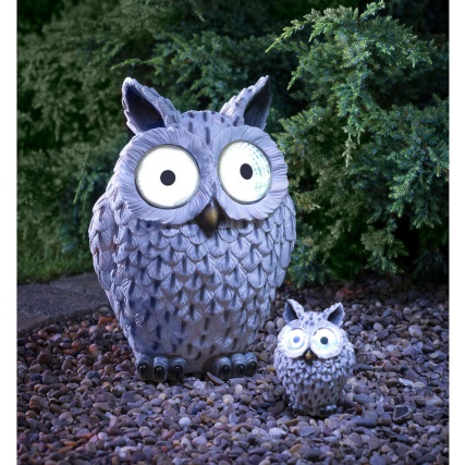 BM  Wild Animal with Solar Eyes Ornament  Snowy Owl