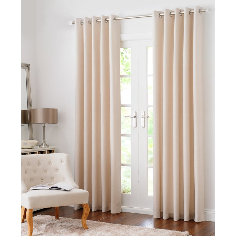 BM Colorado Hopsack Fully Lined Eyelet Curtain 90 x 90