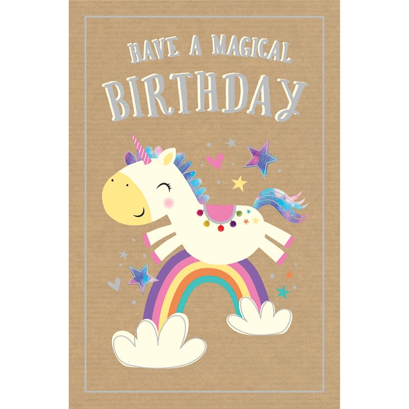 Happy Birthday Unicorn Birthday Card B&M