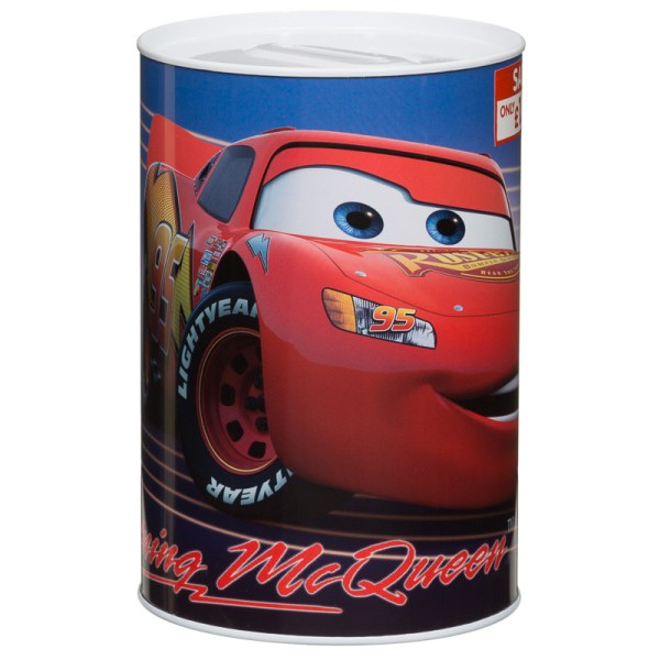 & Tin Money Box - Disney' Cars Savings Tins