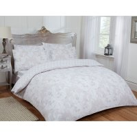 Damask Double Duvet Set Twin Natural