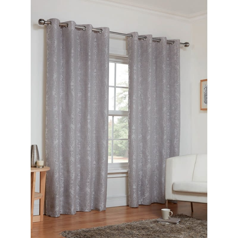 Dorchester Damask Fully Lined Curtains  66 x 72  Home  BM
