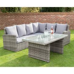 Rattan Effect Garden Corner Sofa Set Legs Replacement Melbourne Canterbury Premium Dining   Furniture - B&m