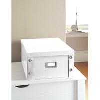 Croc Paper Storage Box - White | Stationery | Filing B&M