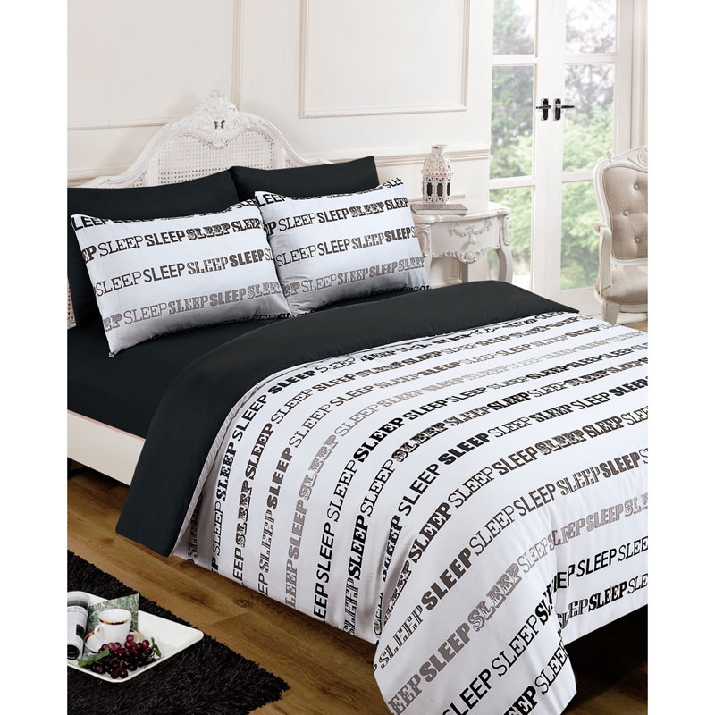 Sleep Text Complete Bed Set  King Size  Bedding  BM
