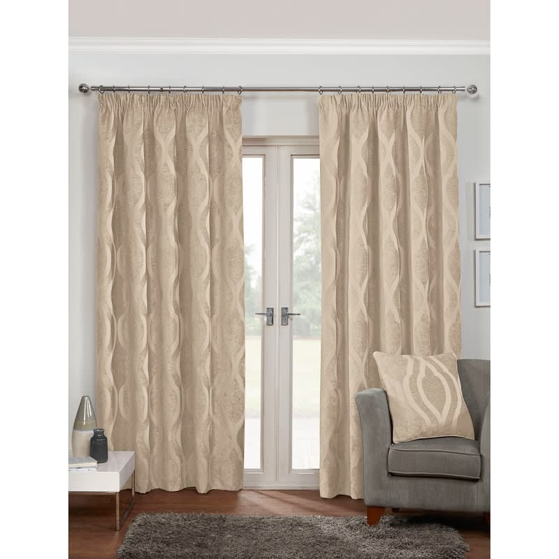 Belgravia Chenille Fully Lined Curtain  66 x 90  Curtains