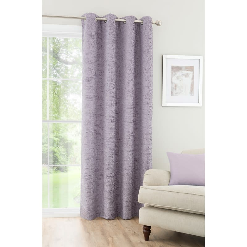Textured Chenille Unlined Curtain Panel 54 x 86  Home  BM