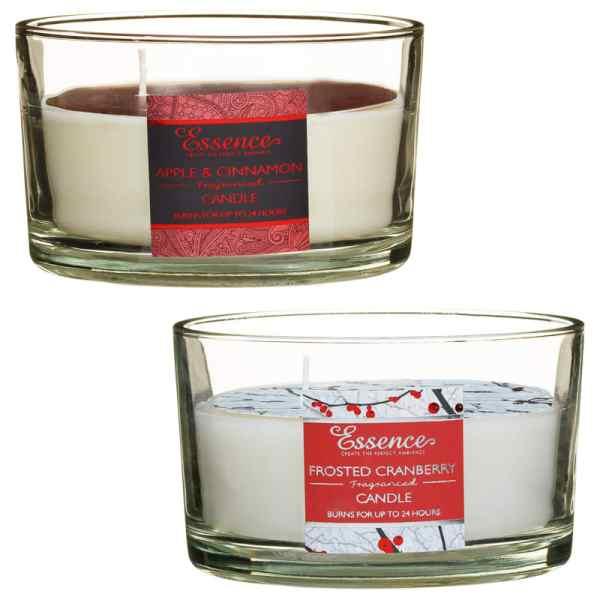 Essence 3 Wick Candle Apple Cinnamon Gifts BM