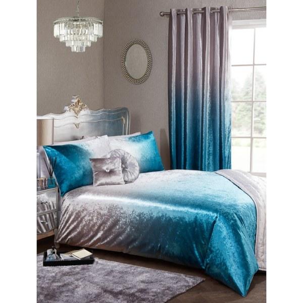 Full Ombre Velvet Duvet Set - Double Bedding &