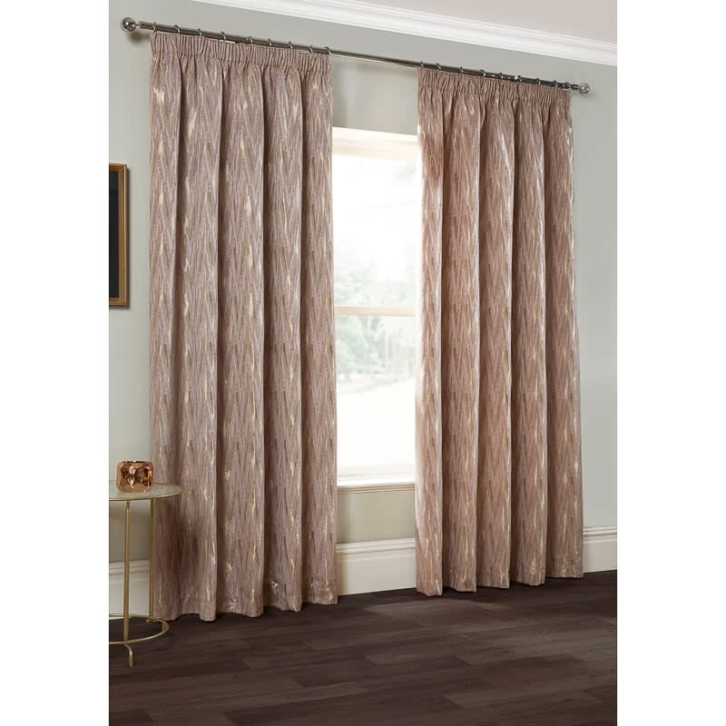 Roma Chevron Chenille Jacquard Curtain 66 x 72  Curtains