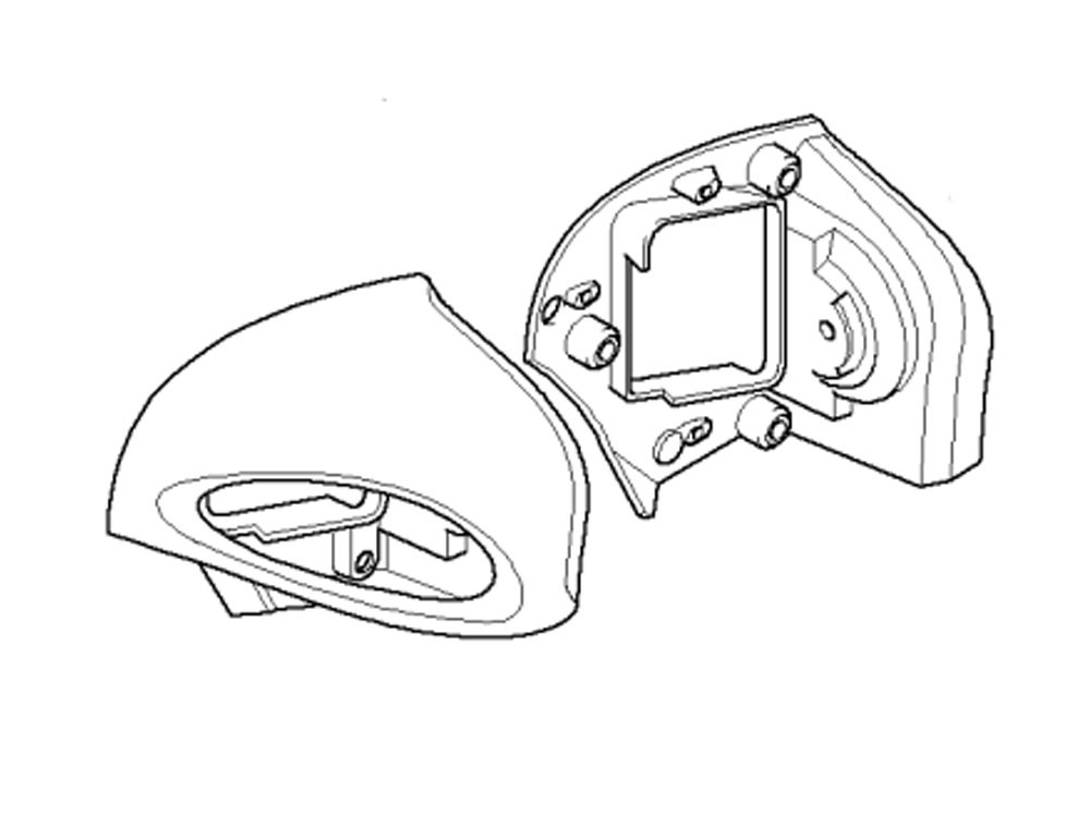 BMW Mirror right (primed) R1100RT (1996-2001) R850RT (1996
