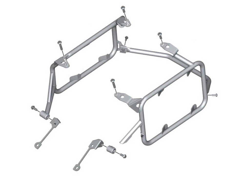BMW Motorcycle Pannier Rack for Aluminium Panniers R1200GS