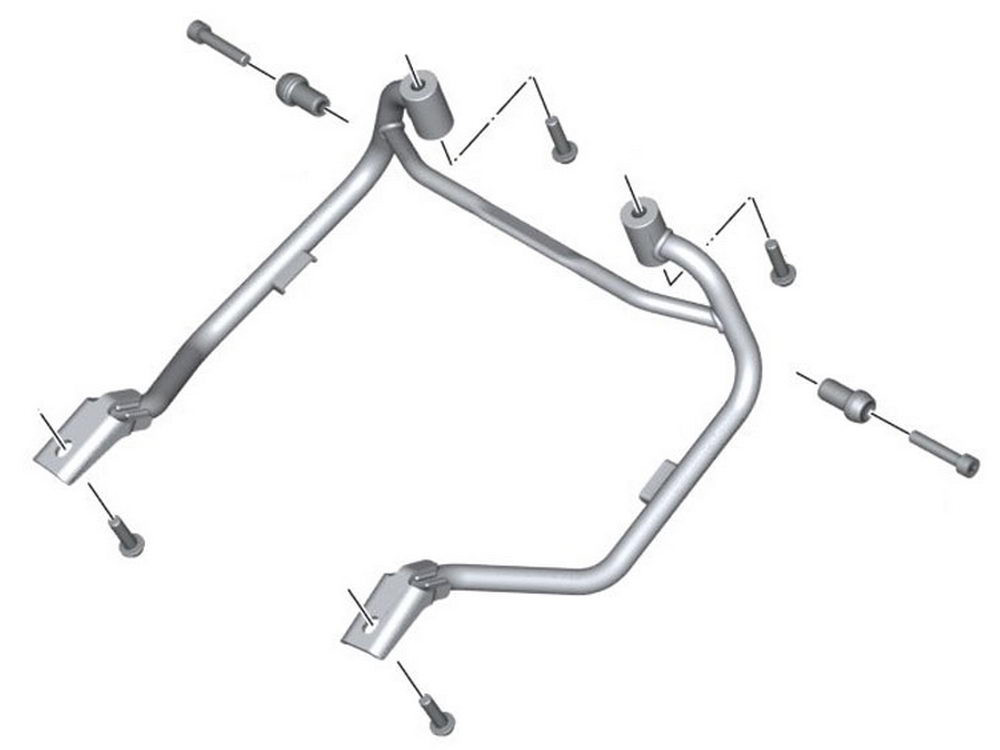 BMW Motorcycle Pannier Rack for Touring Panniers R1200R