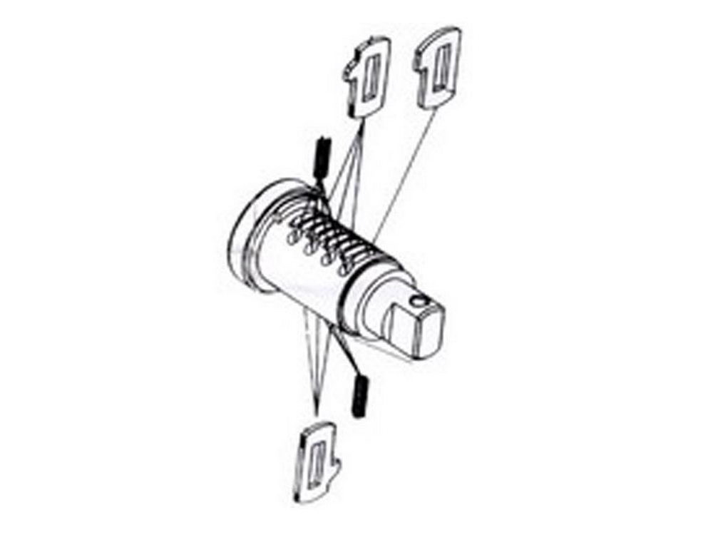 BMW Codeable Key Cylinder for Top Case G650GS (R13) F650GS