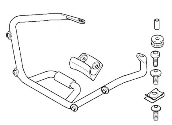 BMW Attachment Part for Windscreen Sport R1200R (-2010
