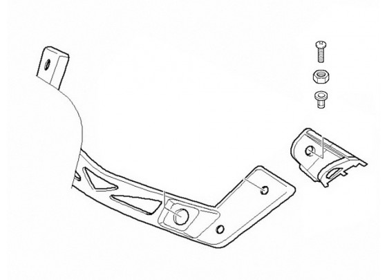 BMW Attachment Part for Windscreen Sport K1200R / K1200R