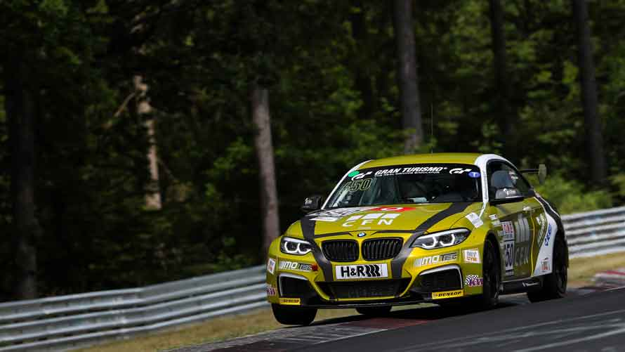 BMW duo Fübrich/Griessner defend title in the BMW M240i Racing Cup to claim the VLN championship.