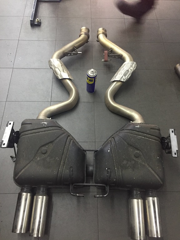 wts used e92 m3 m performance exhaust