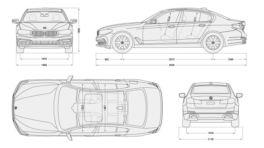 BMW 5 Series Sedan: Technical Data