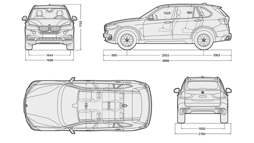 BMW X5: Technické údaje