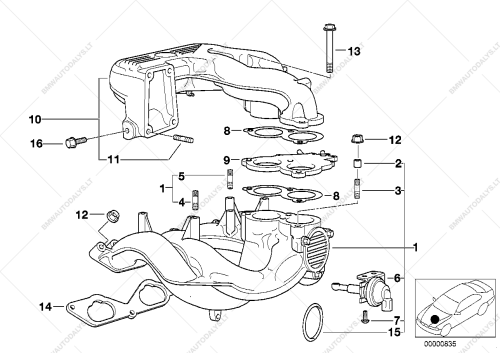 small resolution of parts list is for bmw 3 e36 318ti m42 compact usa