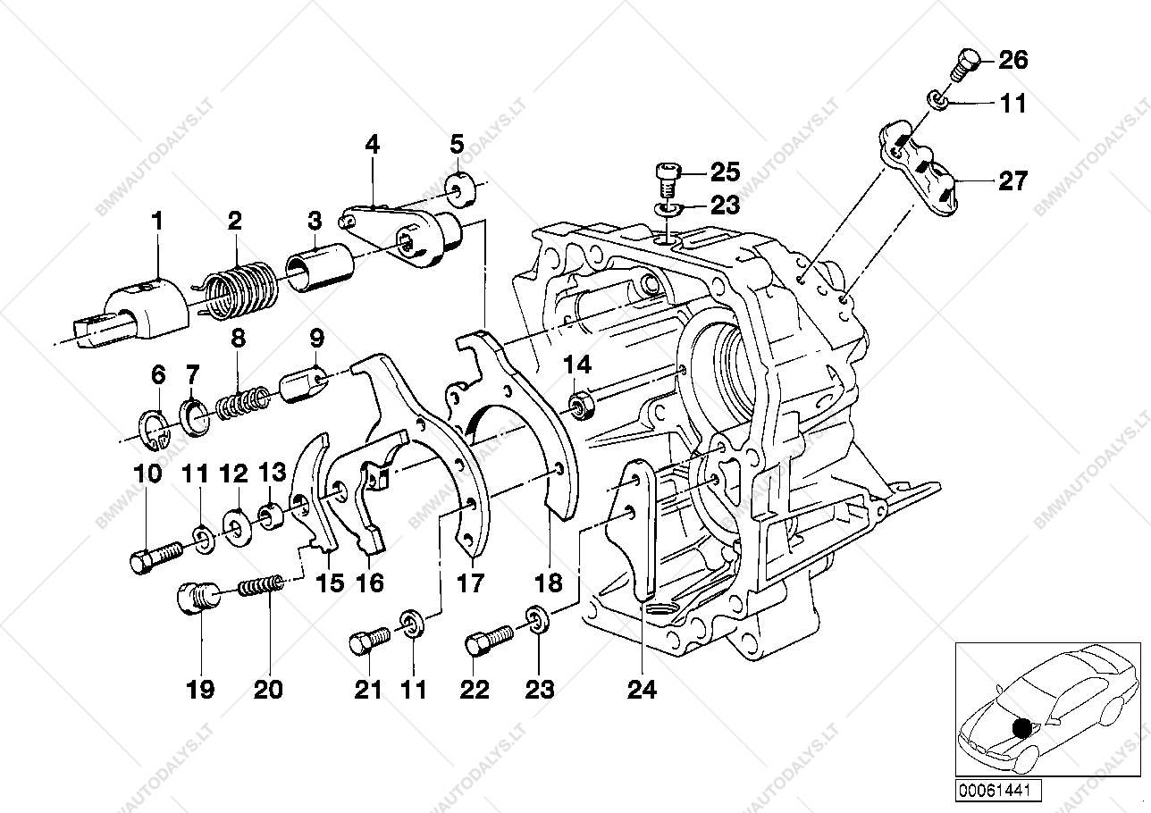 Getrag 260/5/50 inner gear shift parts for BMW 3' E30