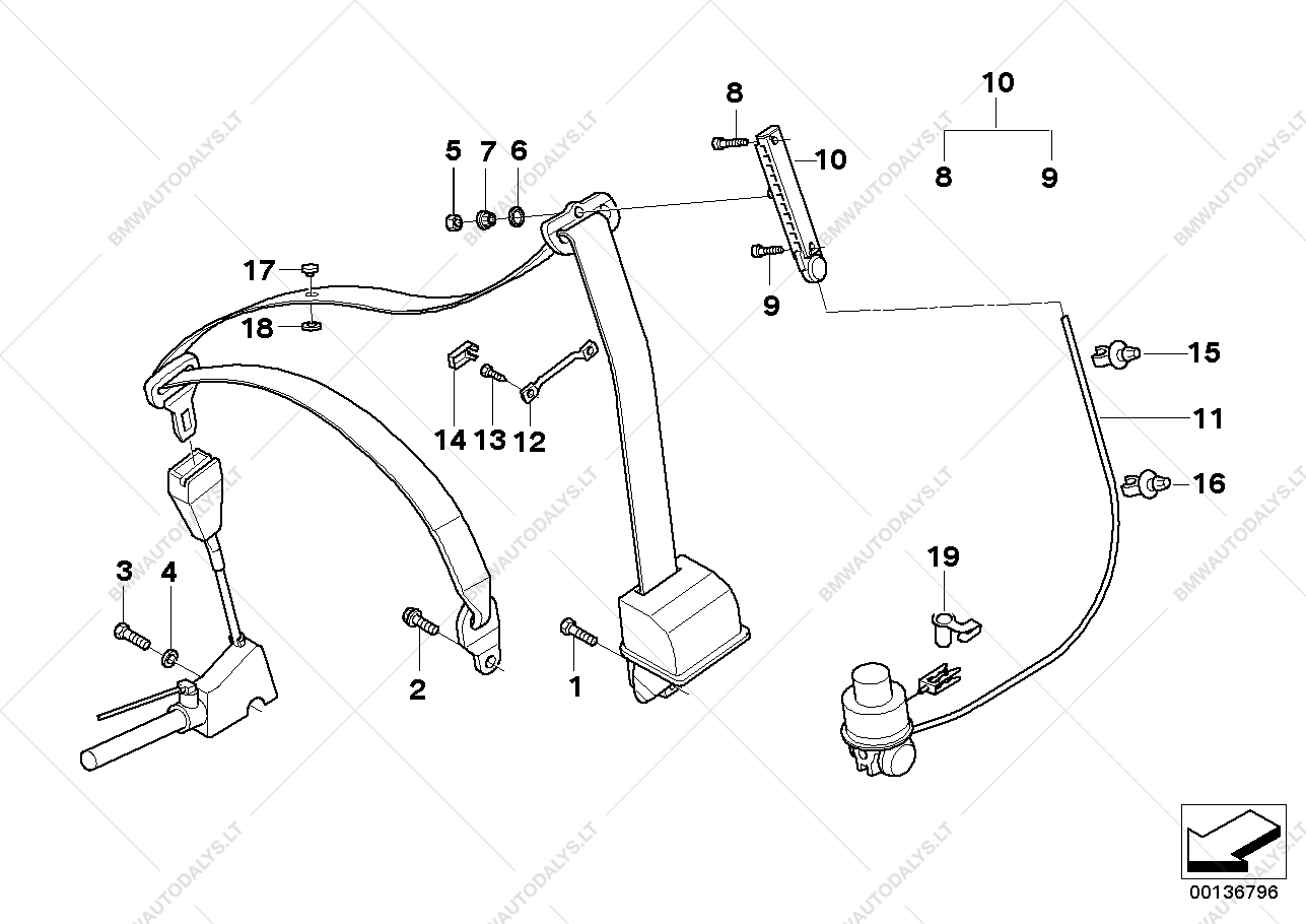 hight resolution of parts list is for bmw 7 e38 740il m62 sedan ece