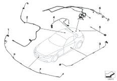 B+ terminal point, engine compartment for BMW Z4 E89, Z4